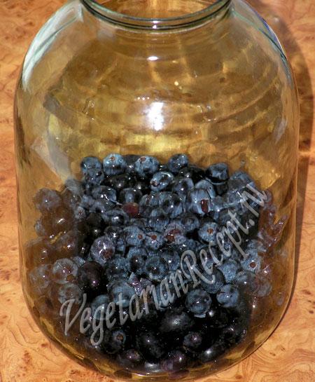 виноград в банке - компот на зиму