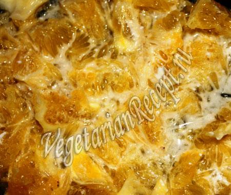 слой апельсинов - приготовление салата