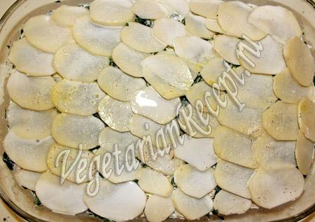 картофель, залитый сливками