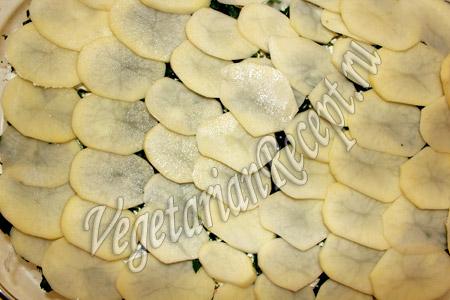 приготовление запеченного картофеля со шпинатом