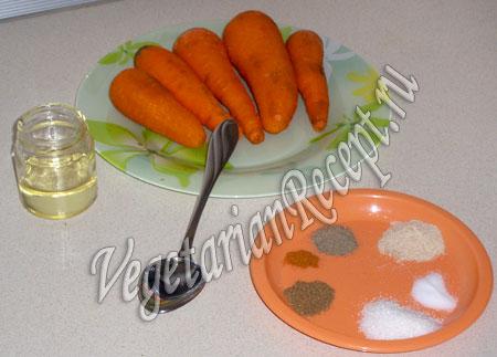 Продукты для моркови по-корейски
