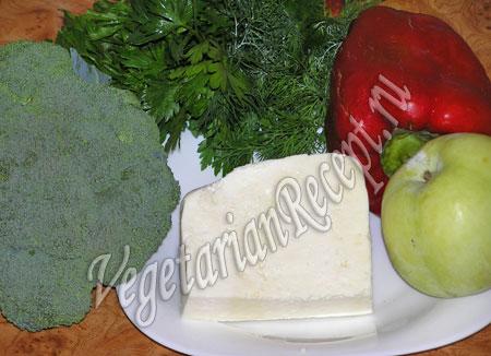 продукты для салата с брокколи