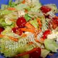 салат с помидорами черри, авокадо и адыгейским сыром