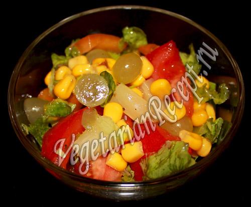салат с виноградом киш миш