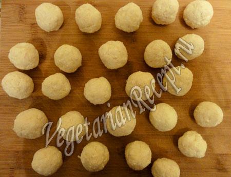 творожные шарики для шоколадного пирога