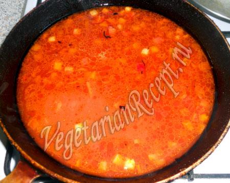 томатный соус для вегетарианских тефтель