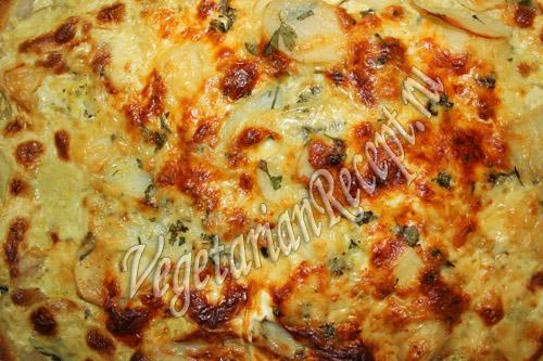 картофель, запеченный со шпинатом и сыром