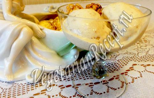 десерт из сливок с бананом