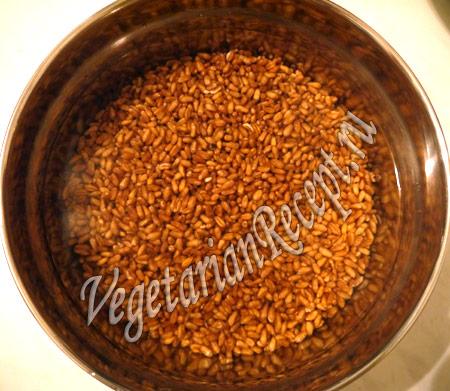 квас без дрожжей - пшеница