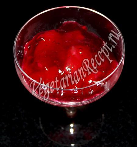фруктово-ягодный десерт с киселем
