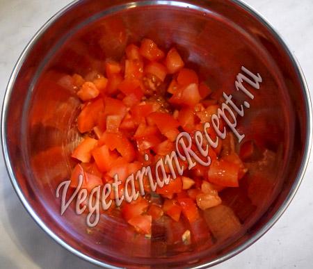 помидоры для горохового пирога