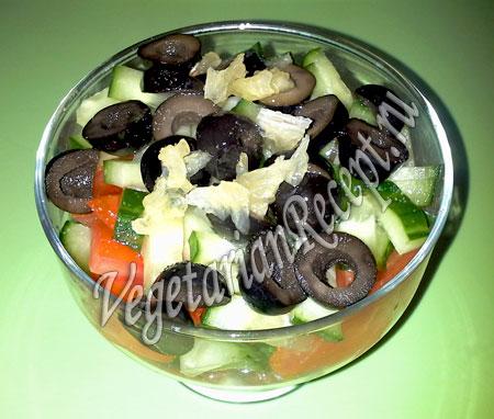 Греческий порционный салат