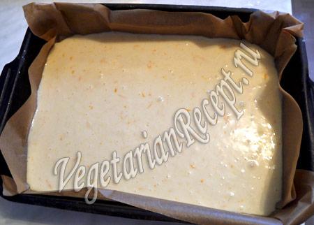приготовление кекса с мандаринами