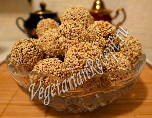 конфеты из фиников и семечек