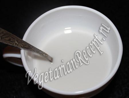 вода с крахмалом для десерта