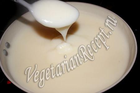 приготовление молочного десерта