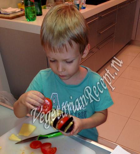 как сделать павлиний хвост из баклажанов