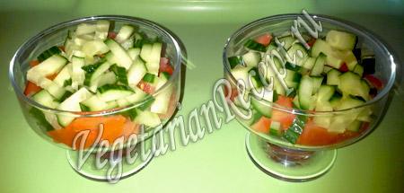 Порционные салаты - огурцы