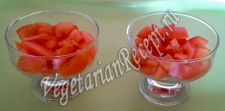 Порционные салаты - помидоры