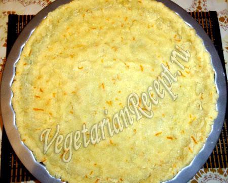 выложить тесто - рисовый пирог