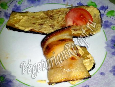 рулетики из баклажанов с помидорами рецепт