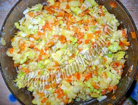 приготовление салата подкова