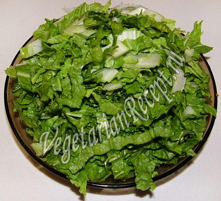 порезанный салат