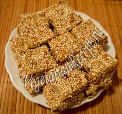 сладости из сгущенки и орехов фундук
