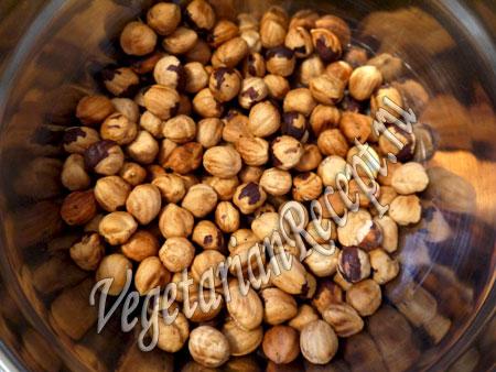 очищенные орехи для приготовления сладостей