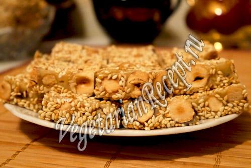 сладости из сгущенки и орехов