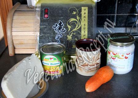 закуска снеговики - продукты