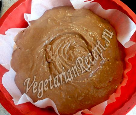торт черный лес - тесто в форме
