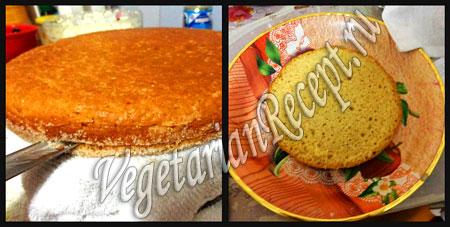 торт из мастики своими руками - разрезаем бисквит