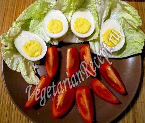 вегетарианские вареные яйца рецепт