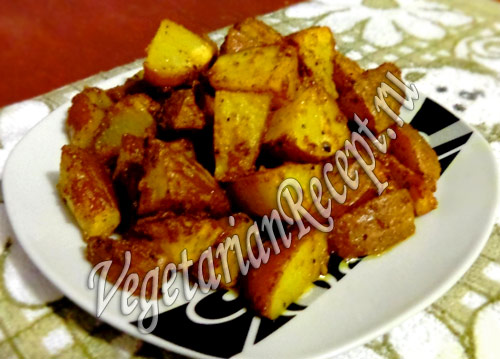 запеченный в духовке картофель в мундире