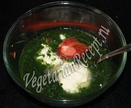 блины со шпинатом рецепт