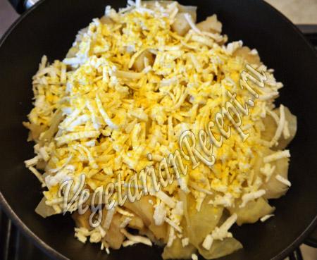 тушеная капуста с сыром