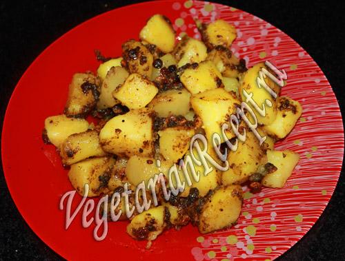 картофель с чечевицей