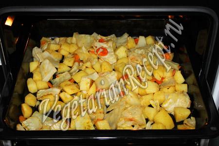 капуста с картошкой в духовке