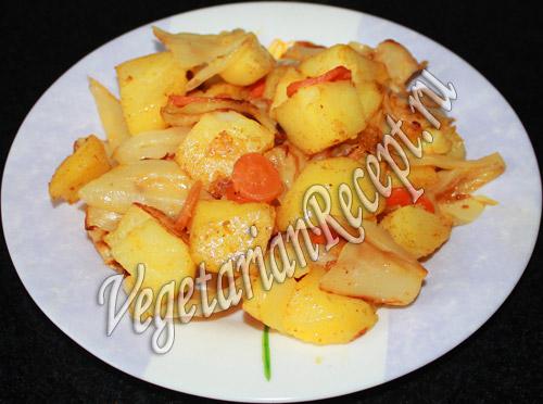 картошка с капустой запеченная в духовке