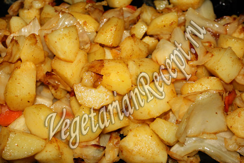 картошка запеченная с капустой