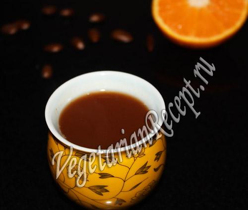 кофе с какао апельсином Африка