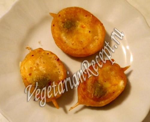 жареные оливки с сыром