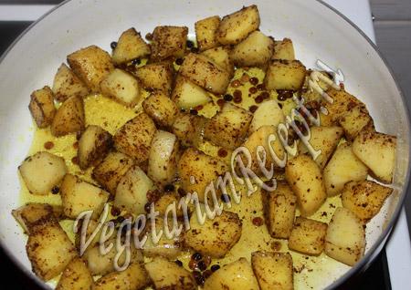 острый картофель с чечевицей рецепт