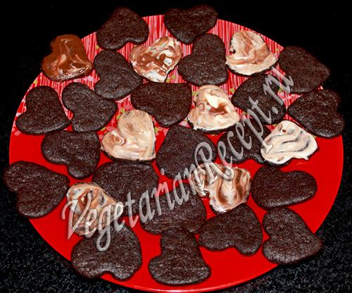 шоколадное печенье сердечки