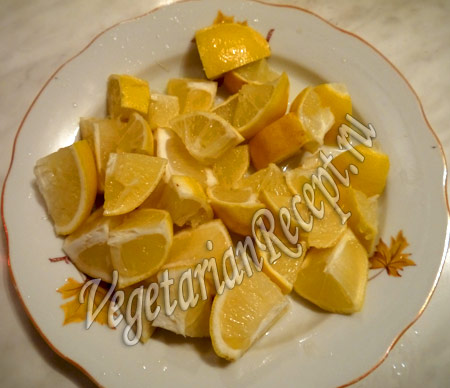 порезанный лимон для пирога