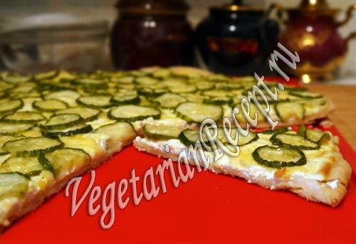 рецепт пирог с огурцами