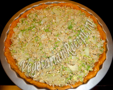постный пирог с капустой пекинской