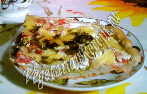 русская пицца или овощной пирог