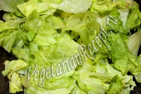 салат с авокадо и грейпфрутом - рвем листья